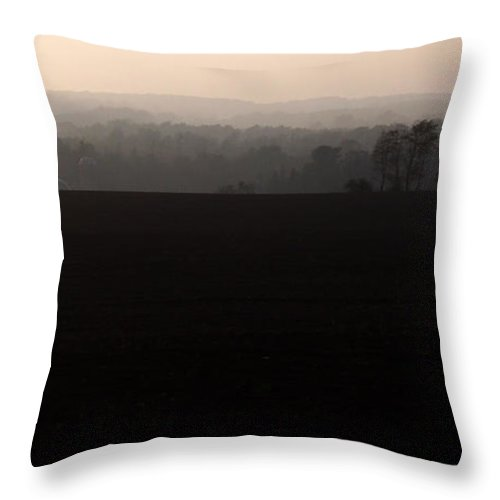 Hills Throw Pillow featuring the photograph Distant Hills by Tim Nyberg