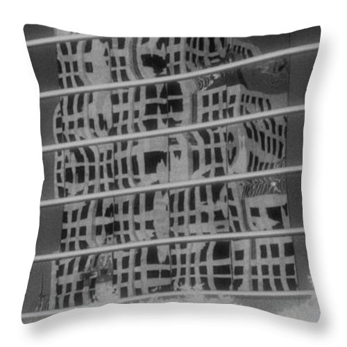 Distorted Throw Pillow featuring the photograph Distorted Views by Richard Rizzo