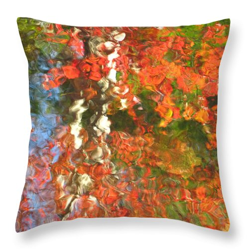 Colorful Liquid Throw Pillow featuring the photograph Delight by Sybil Staples