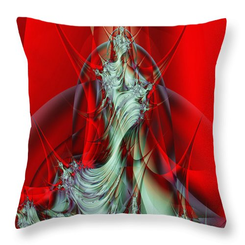 Fractal Throw Pillow featuring the digital art Diva by Frederic Durville