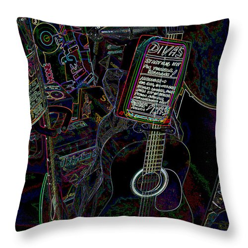 Music Throw Pillow featuring the photograph Divas by Suzanne Gaff