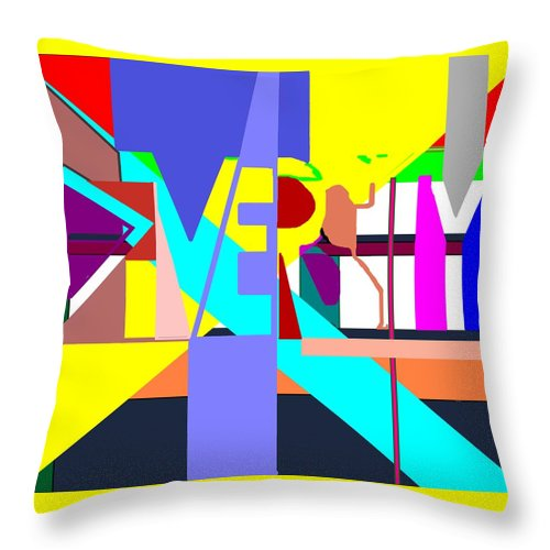 Diversity Throw Pillow featuring the digital art Diversity Enmeshed by Pharris Art