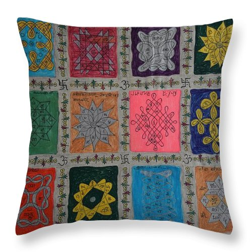 Religion Throw Pillow featuring the painting Diversity by M Ande
