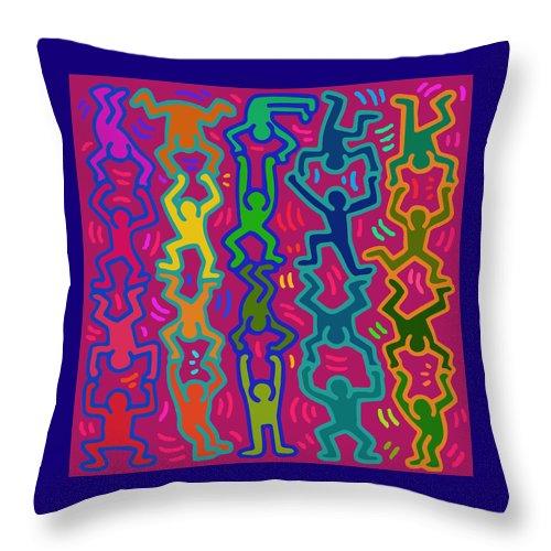 Diversity Throw Pillow featuring the digital art Diversity by Vagabond Folk Art - Virginia Vivier