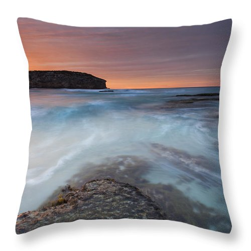 Dawn Throw Pillow featuring the photograph Divided Tides by Mike Dawson