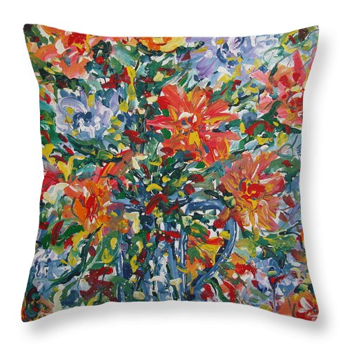Painting Throw Pillow featuring the painting Divine Happiness. by Leonard Holland
