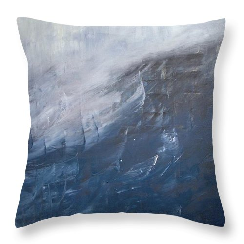 Storm Throw Pillow featuring the painting Divine Storm by Vesna Antic