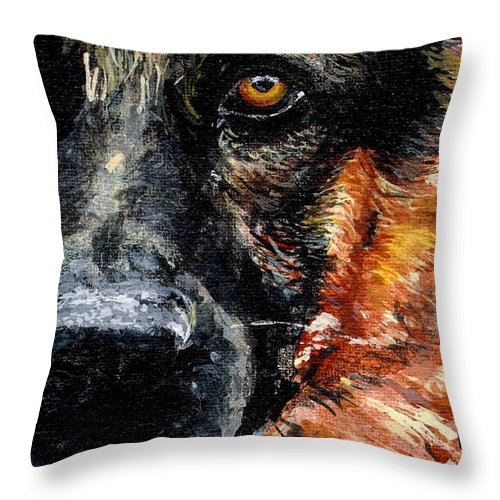 Charity Throw Pillow featuring the painting Dixie by Mary-Lee Sanders