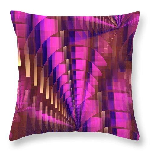 Purple Throw Pillow featuring the digital art Dizzy by John Krakora