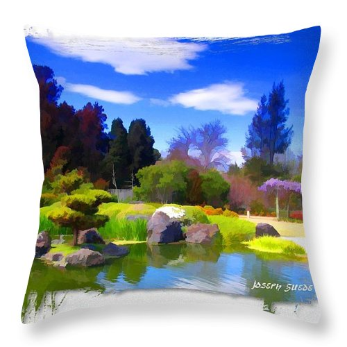 Turtle Island Throw Pillow featuring the photograph Do-00010 Turtle Island Waterview by Digital Oil