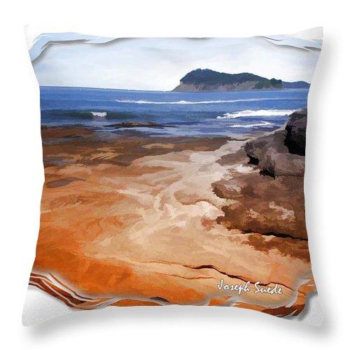 Beach Throw Pillow featuring the photograph Do-00016 Pearl Beach by Digital Oil