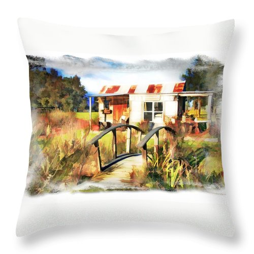 Cottage Throw Pillow featuring the photograph Do-00035 Cottage by Digital Oil