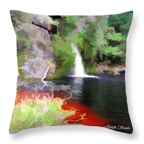 St John Throw Pillow featuring the photograph Do-00094 St John Fall by Digital Oil
