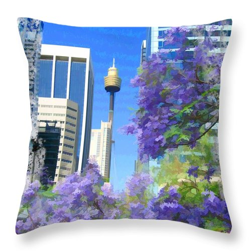 Spring Throw Pillow featuring the photograph Do-00106 Spring In Sydney by Digital Oil