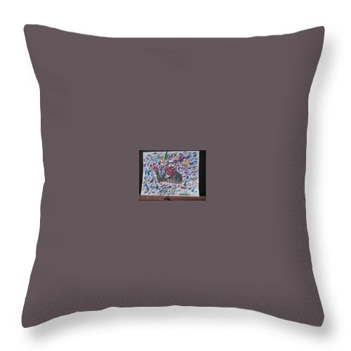 Throw Pillow featuring the painting Do I by Dutch MARCHING