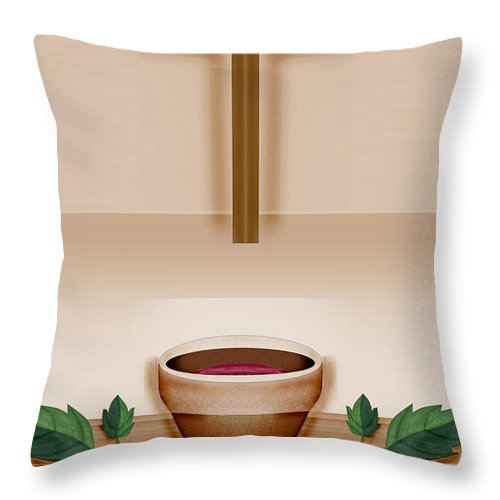 Holy Communion Throw Pillow featuring the painting Do This In Remembrance Of Me by Anne Norskog