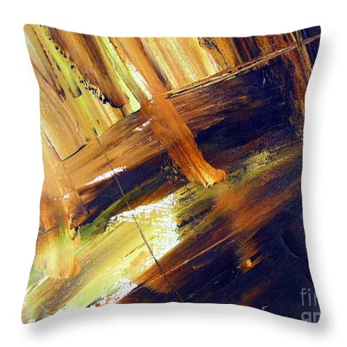 Sitting On The Dock Of The Bay Throw Pillow featuring the painting Dock Of The Bay by Dawn Hough Sebaugh