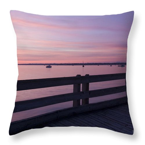 Pier Throw Pillow featuring the photograph Dock On The Bay by Idaho Scenic Images Linda Lantzy