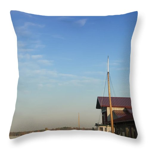 Boat Throw Pillow featuring the photograph Docked by Bill Cannon