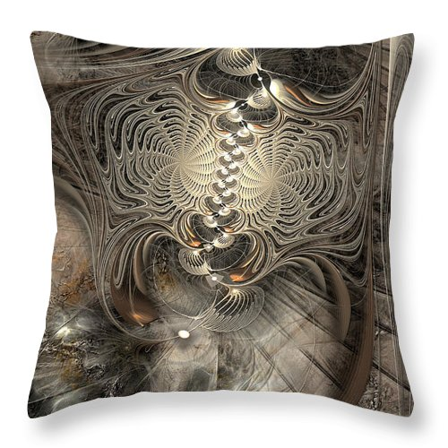 Abstract Throw Pillow featuring the digital art Doctrinal Entrapment by Casey Kotas