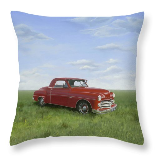 Classic Throw Pillow featuring the painting Dodge by Patricia Van Lubeck
