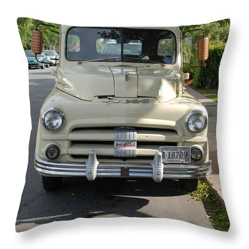 Truck Throw Pillow featuring the photograph Dodge by Rob Hans