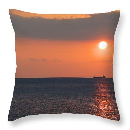 Sunset Throw Pillow featuring the photograph Dogashima Sunset by Naoki Takyo