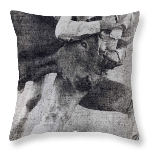 California Scenes Throw Pillow featuring the photograph Doggin It by Norman Andrus
