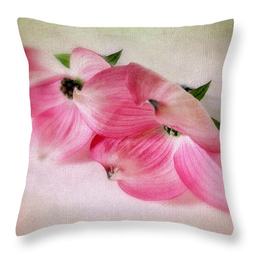Flower Throw Pillow featuring the photograph Dogwood Duet by Jessica Jenney