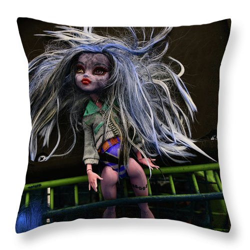 Babe Throw Pillow featuring the photograph Doll X2 by Char Szabo-Perricelli