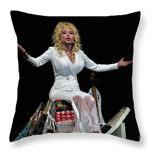 Dolly Parton Throw Pillow featuring the photograph Dolly by Bernd Billmayer