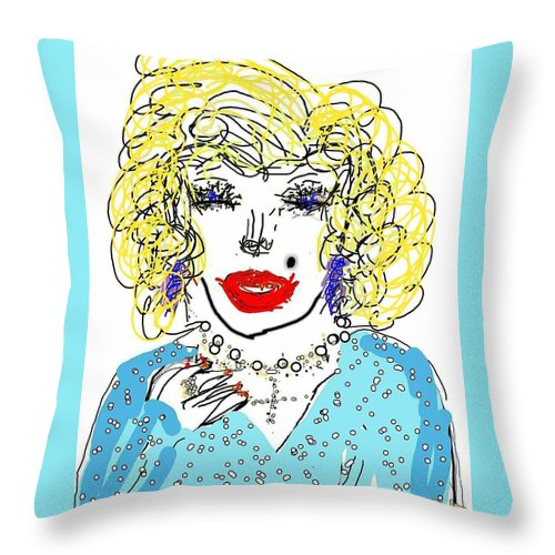 Dolly Throw Pillow featuring the digital art Dolly by Kathy Barney