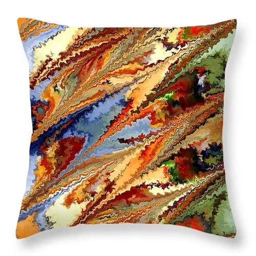 Contemporary Throw Pillow featuring the painting Dolphins by Rafi Talby