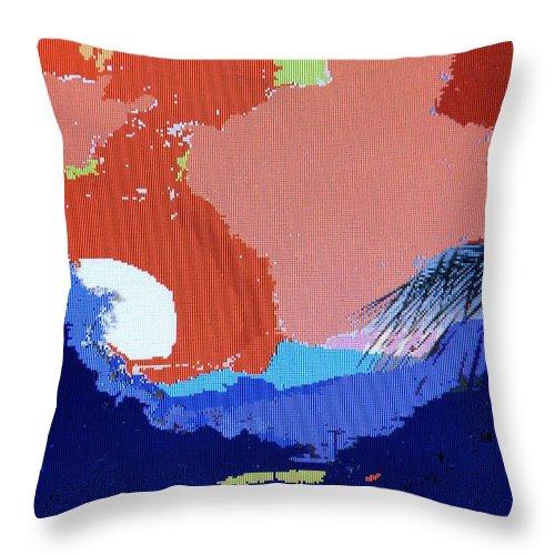 Digital Art Throw Pillow featuring the photograph Dominican Sunset by Ian MacDonald