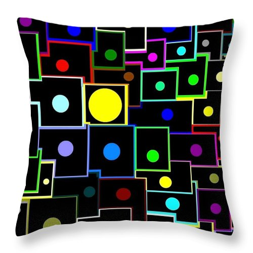 Abstract Throw Pillow featuring the digital art Domino Effect by Will Borden