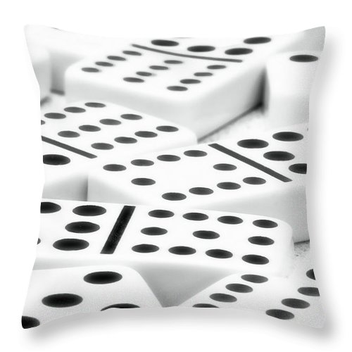 Dominoes Throw Pillow featuring the photograph Dominoes II by Tom Mc Nemar