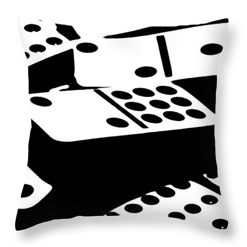 Dominoes Throw Pillow featuring the photograph Dominoes IIi by Tom Mc Nemar