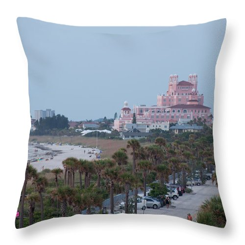 Don Cesar Throw Pillow featuring the photograph Don Cesar Hotel St Pete Beach Florida by John Black