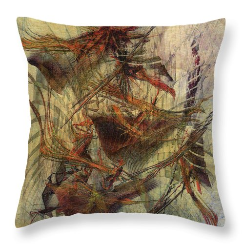 Don Quixote Throw Pillow featuring the digital art Don Quixote by John Beck