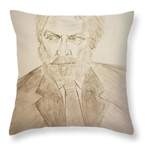 Donald Sutherland Throw Pillow featuring the photograph Donald Sutherland by Richard Howell