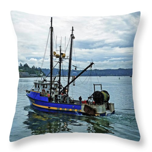 Done For The Day Throw Pillow featuring the photograph Done For The Day by Methune Hively