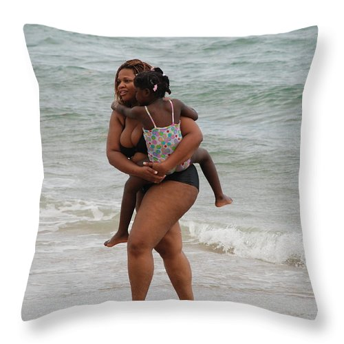 Sea Scape Throw Pillow featuring the photograph Done For The Day by Rob Hans
