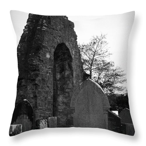 Irish Throw Pillow featuring the photograph Donegal Abbey Ruins Donegal Ireland by Teresa Mucha