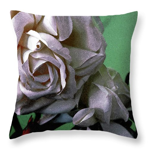 White Rose Throw Pillow featuring the photograph Dont Be Sad by Susanne Van Hulst