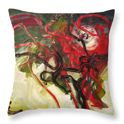 Abstract Paintings Paintings Abstract Art Paintings Throw Pillow featuring the painting Don't Bother Me by Seon-Jeong Kim