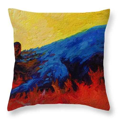 Western Throw Pillow featuring the painting Dont Bug Me by Marion Rose