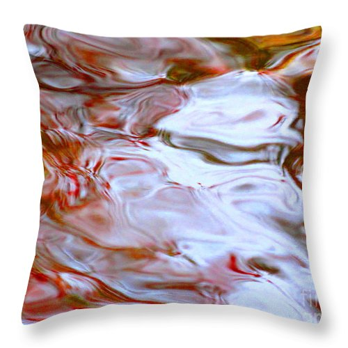 Abstract Throw Pillow featuring the photograph Nothing Is Sanctioned by Sybil Staples