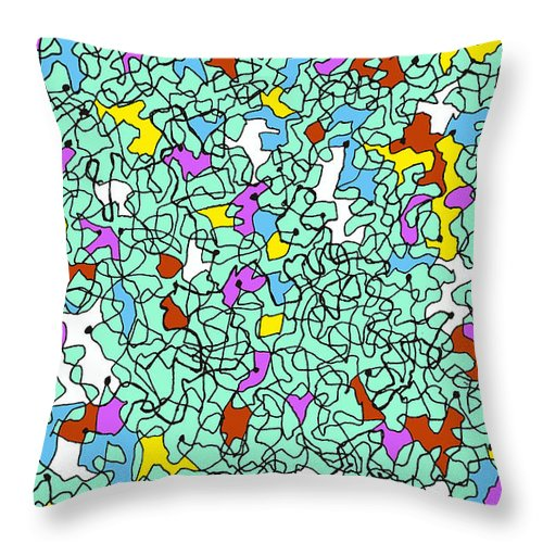 Line Throw Pillow featuring the digital art Doodle Bug 3 by Andy Mercer