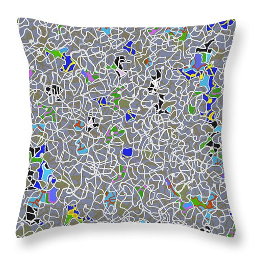 Doodle Throw Pillow featuring the digital art Doodle Bug 6 by Andy Mercer
