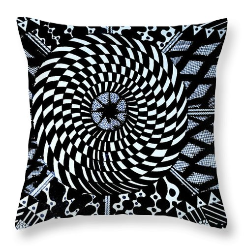 Art Throw Pillow featuring the drawing Doodles 2 by Nour Refaat